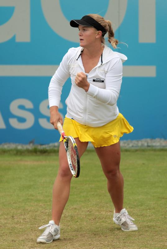 Melanie Oudin Of The USA Celebrates Getty Images