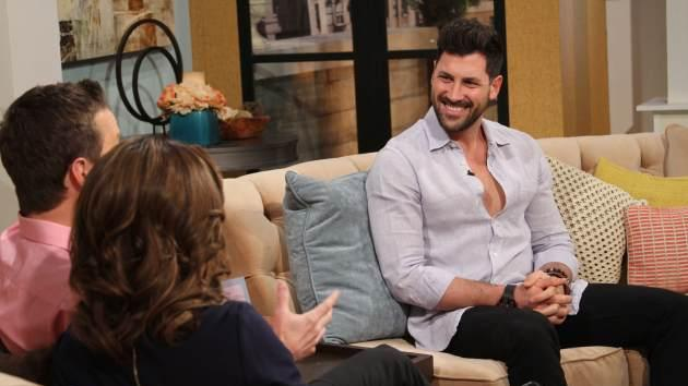 Maksim Chmerkovskiy seen on the set of Access Hollywood Live on February 26, 2013 -- Access Hollywood