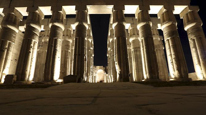 The Luxor Temple is pictured in Luxor city, Egypt