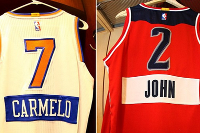 Here's what the Christmas Day NBA jerseys with first names look like in real life