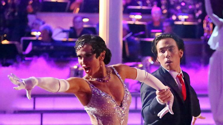 Karina Smirnoff and Apolo Anton Ohno (10/8/12)