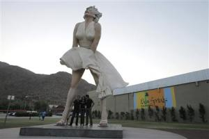 """File photo of the sculpture """"Forever Marilyn"""" in Palm Springs, California"""