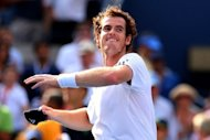 Britain's Andy Murray celebrates match point during the men's semi-final match against Tomas Berdych of Czech Republic at the US Open. The Olympic champion, trying to become the first British man to win a Grand Slam title since 1936, withstood blustery conditions to beat Berdych