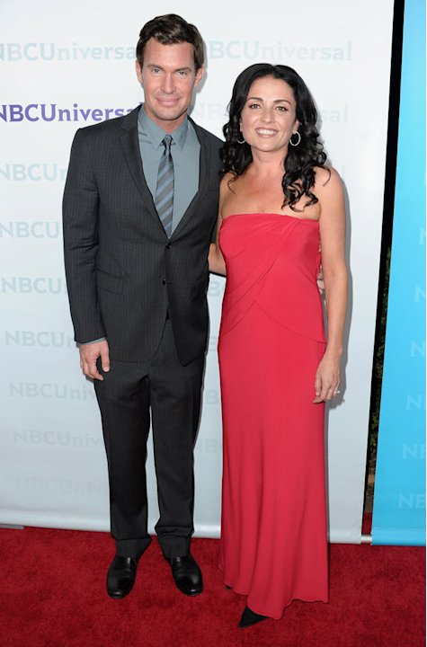 "Jeff Lewis and Jenni Pulos (""Flipping Out"") attend the 2012 NBC Universal Winter TCA All-Star Party at The Athenaeum on January 6, 2012 in Pasadena, California."