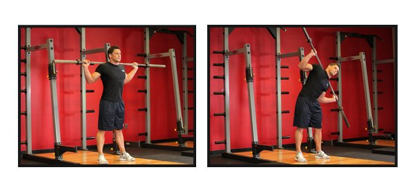 barbell Side bend.