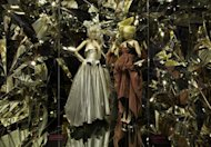 A scene from the 'Louis Vuitton and Marc Jacobs' exhibition at the Musée des Arts décoratifs