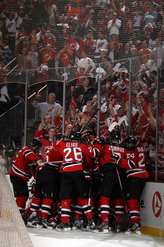 The New Jersey Devils Celebrate Getty Images