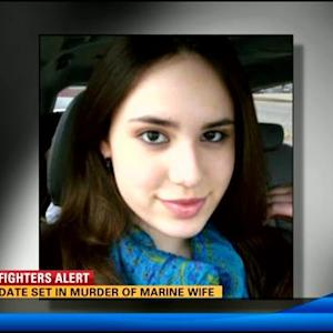 Trial date set in murder of Marine wife
