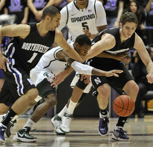Northwestern upsets No. 6 Michigan State 81-74