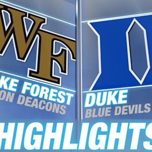 Wake Forest vs Duke | 2014-15 ACC Men's Basketball Highlights