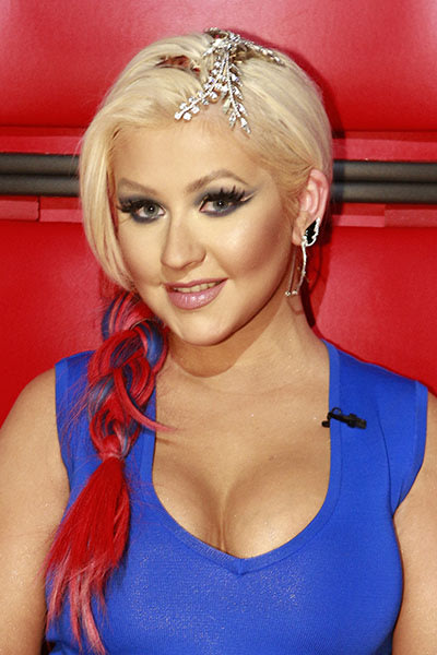 Christina goes red, white, and blue, November 7, 2012