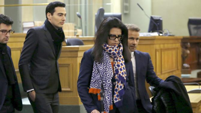 Francoise Bettencourt-Meyers, the daughter of Liliane Bettencourt, arrives at the courts in Bordeaux on the opening day for the trial