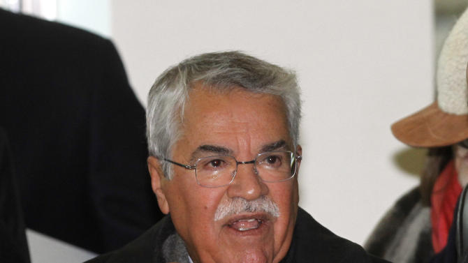 Saudi Arabia's Minister of Petroleum and Mineral Resources Ali Ibrahim Naimi arrives for a meeting of the Organization of the Petroleum Exporting Countries, OPEC, at their headquarters in Vienna, Austria, Wednesday, Dec. 12, 2012 . (AP Photo/Ronald Zak)