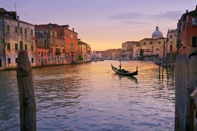 An idyllic scene in Venice, Italy
