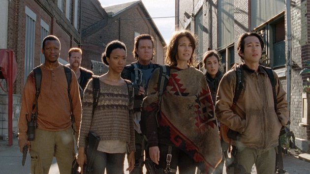 The gang arrives at Terminus. (AMC)