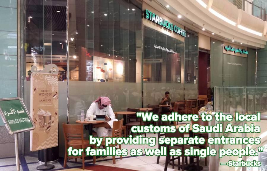 Women Are Being Banned From This Starbucks in Saudi Arabia — And People Are Outraged