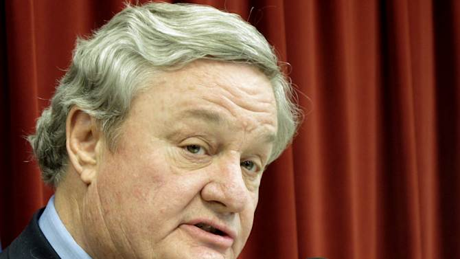 FILE - In this April 16, 2012 file photo North Dakota Gov. Jack Dalrymple speaks in Bismarck, N.D.  Dalrymple signed legislation Tuesday, March 26, 2013 that that would make North Dakota the nation's most restrictive state on abortion rights, banning the procedure if a fetal heartbeat can be detected — something that can happen as early as six weeks into a pregnancy. (AP Photo/Dale Wetzel, File)
