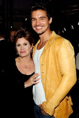 Carrie Fisher and Steven Strait at the Hollywood premiere of Lions Gate Films' Undiscovered