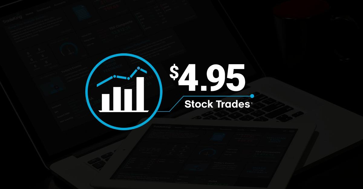 Only $4.95 per Stock Trade at TradeKing!