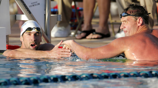 Phelps tries sprinting in 2nd event of comeback