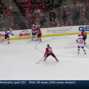 Keith Kinkaid Save on Dmitry Kulikov (16:55/2nd)
