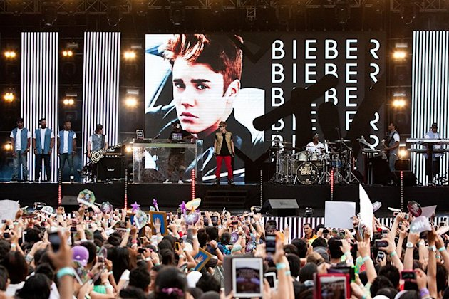 Justin Bieber at MTV World Stage
