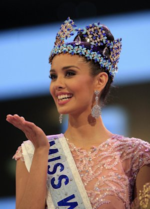 Newly crowned Miss World Megan Young of the Philippines, …