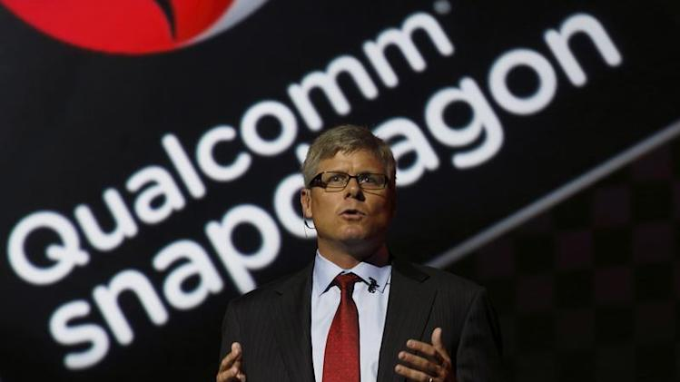Qualcomm Chief Operating Officer Steve Mollenkopf speaks at the LG G2 smart presentation in New York