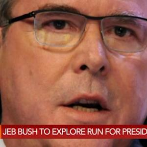 Jeb Bush `Actively' Exploring 2016 Presidential Run