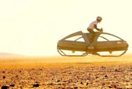 The Aerofex hover vehicle undergoes flight tests in California's Mojave Desert.