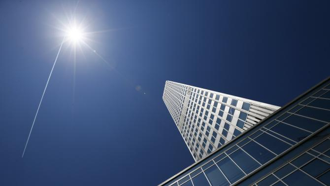 The headquarters of the European Central Bank (ECB) are pictured in Frankfurt
