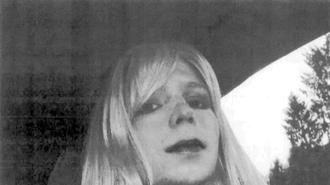 In this undated file photo provided by the U.S. Army, Pfc. Bradley Manning poses for a photo wearing a wig and lipstick. Manning plans to live as a woman named Chelsea and wants to begin hormone therapy as soon as possible, the soldier said Thursday, Aug. 22, 2013, a day after he was sentenced to 35 years in prison for sending classified material to WikiLeaks. (AP Photo/U.S. Army, File)