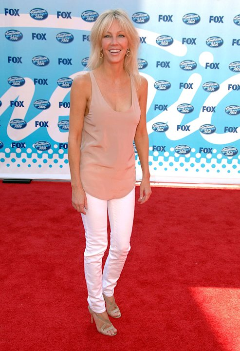 Heather Locklear arrives at the American Idol Season 8 Grand Finale held at Nokia Theatre L.A. Live on May 20, 2009 in Los Angeles, California.