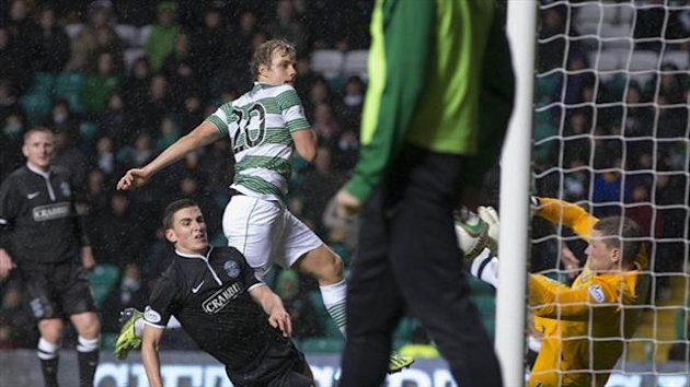 Teemu Pukki scores the winner for Celtic