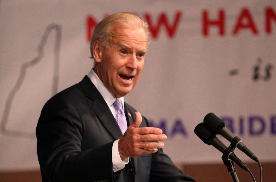 Vice President Joe Biden speaks at Keene State College , Tuesday, May 22, 2012 in Keene, N.H. (AP Photo/Jim Cole)