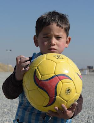 Afghan boy Murtaza Ahmadi is hoping to meet his idol …