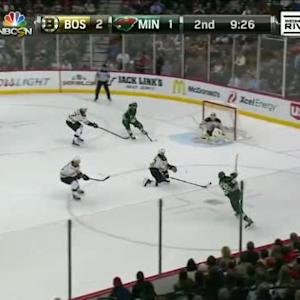 Niklas Svedberg Save on Erik Haula (10:36/2nd)