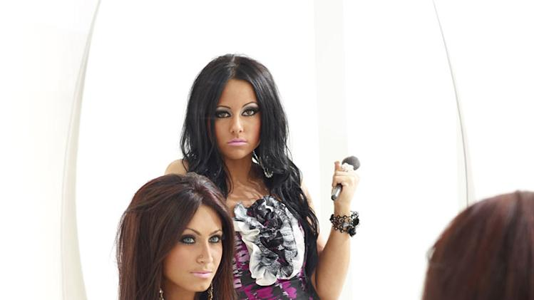 "Olivia and Tracy in ""Jerseylicious."""