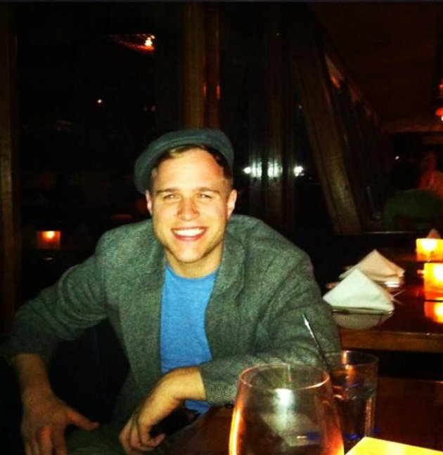 Celebrity photos: Olly Murs has been hanging out in America, writing for his new album before heading on tour with One Direction. He tweeted this picture of him enjoying some downtime at a restaurant,