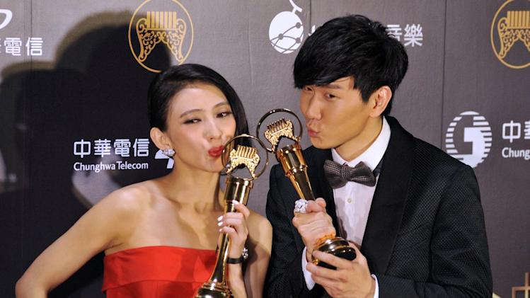 Stars gather for Taiwan music awards