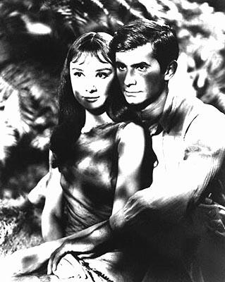 Audrey Hepburn and Anthony Perkins in MGM's Green Mansions