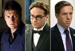 Nathan Fillion, Johnny Galecki, Damian Lewis | Photo Credits: Vivian Zink/ABC; Michael Yarish/CBS; Kent Smith/SHOWTIME