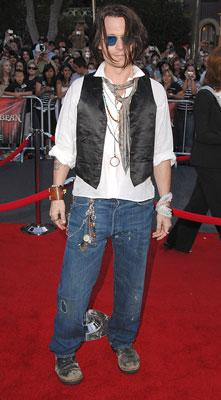 Johnny Depp at the Disneyland premiere of Walt Disney Pictures' Pirates of the Caribbean: At World's End