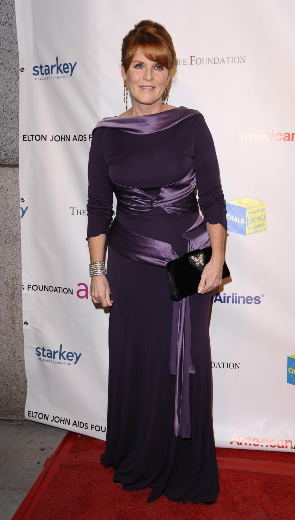 Sarah Ferguson attends the Elton John AIDS Foundation 10th Annual Enduring Vision Benefit, on Wednesday, Oct. 26, 2011, in New York. (AP Photo/Peter Kramer)