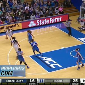 Kentucky vs Duke | 2014-15 ACC Women's Basketball Highlights