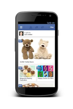Facebook launches service to send real-life gifts