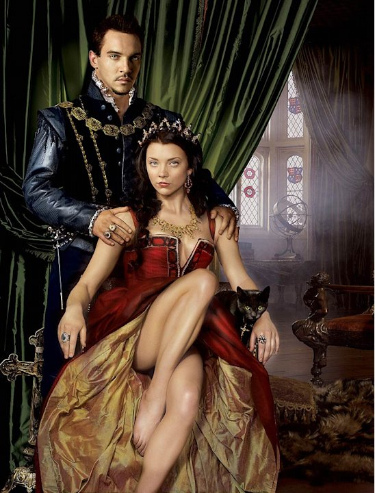 Jonathan Rhys Meyers stars as Henry VIII and Natalie Dormer stars as Anne Boleyn in The Tudors.