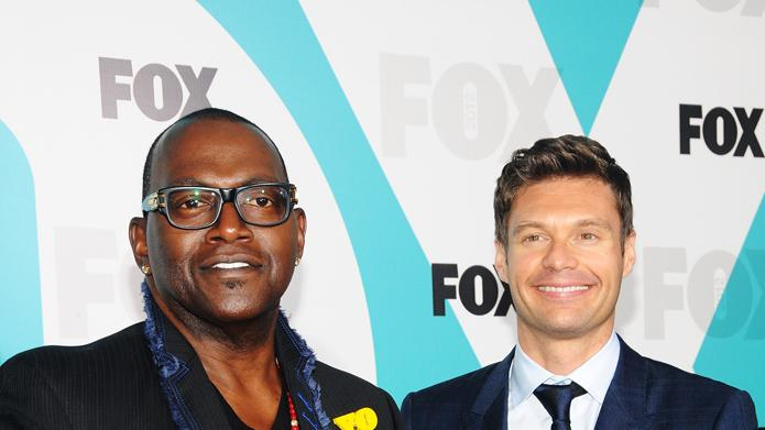 Fox 2012 Programming Presentation Post-Show Party - Randy Jackson and Ryan Seacrest