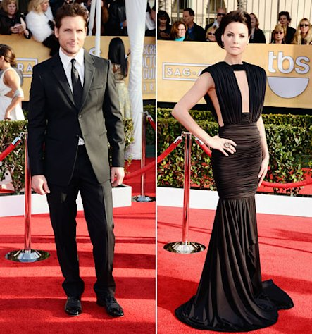 Peter Facinelli&#39;s New Girlfriend Jaimie Alexander Stuns in Sexy Gown at SAG Awards