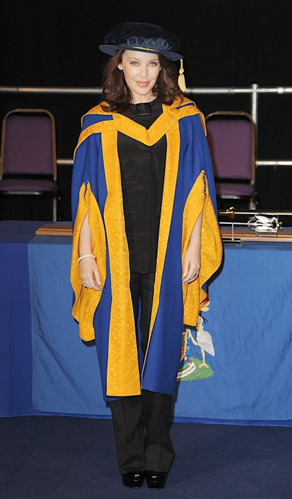 Kylie Minogue Is Made Doctor Of Health Sciences at Angela Ruskin University